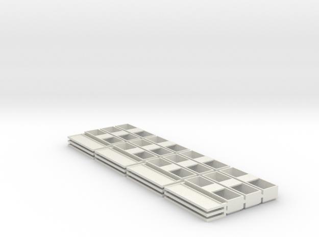 Double Speaker box Open 49x15x11 12 Pack in White Natural Versatile Plastic
