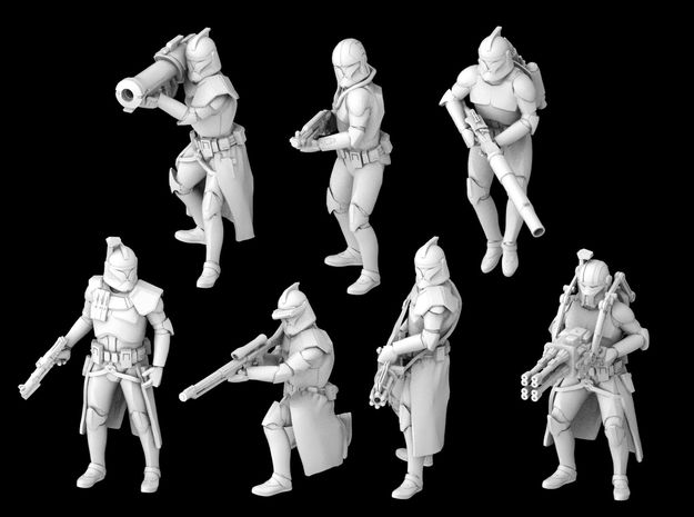 (Legion) 7x Specialized Clone Troopers Phase 1