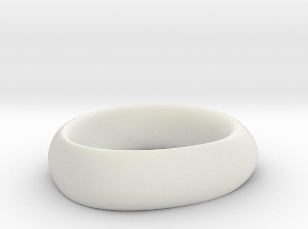 Ring 6 in White Natural Versatile Plastic