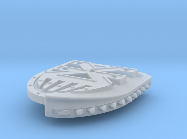 Right-handed Chainshield (Blood God design) in Smooth Fine Detail Plastic: Small