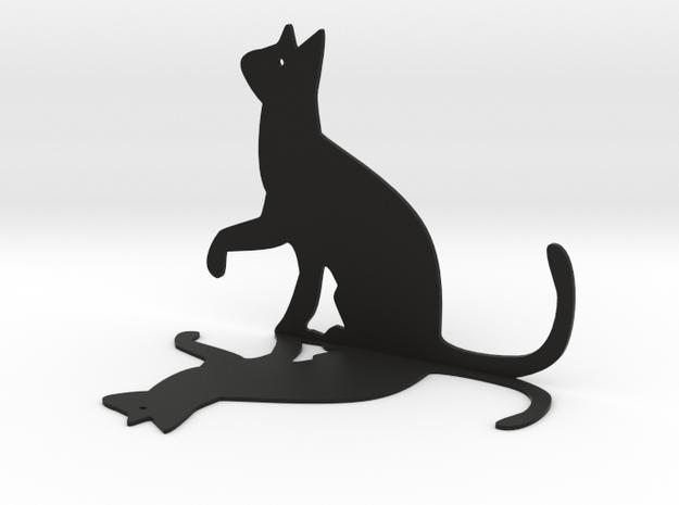 Cat Bookshelf in Black Natural Versatile Plastic
