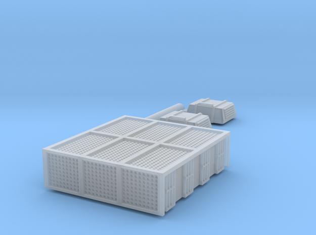N Scale AEM7 Loco Roof Detail Set in Smooth Fine Detail Plastic