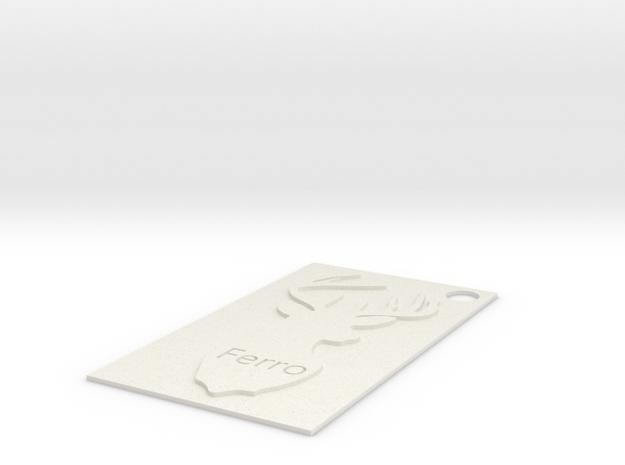 Deer Charm.stl in White Natural Versatile Plastic