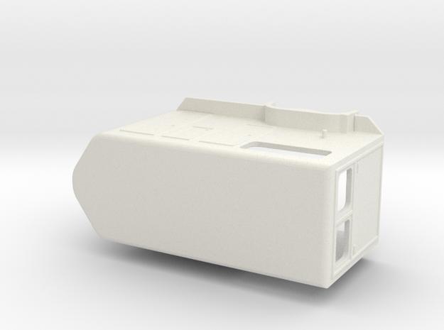 1031 Horse trailer HO in White Natural Versatile Plastic: 1:87 - HO