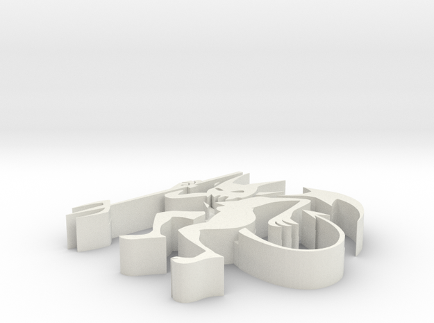 3d Demon in White Natural Versatile Plastic