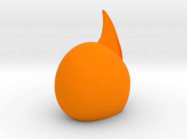 Helmet 7b1 in Orange Processed Versatile Plastic