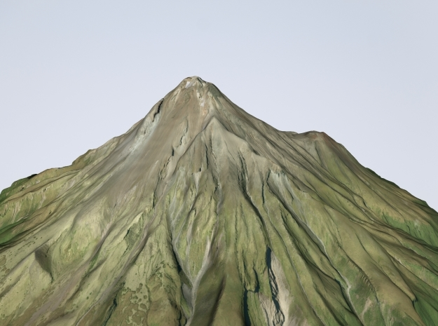 "Mt. Taranaki Map, New Zealand - 6"" in Natural Full Color Sandstone"