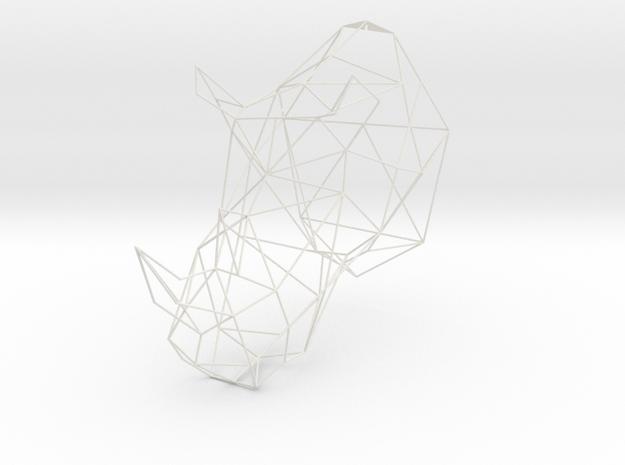 XL 3D Printed Rhino Trophy Head