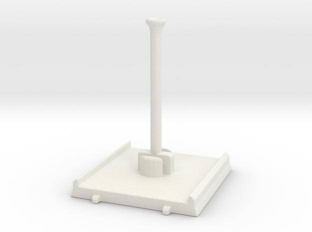 Small ship magnet-support stand in White Natural Versatile Plastic