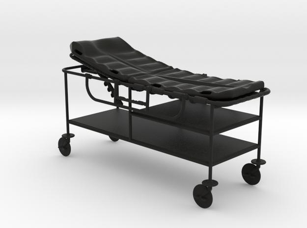 hospital gurney 1:24 scale in Black Natural Versatile Plastic