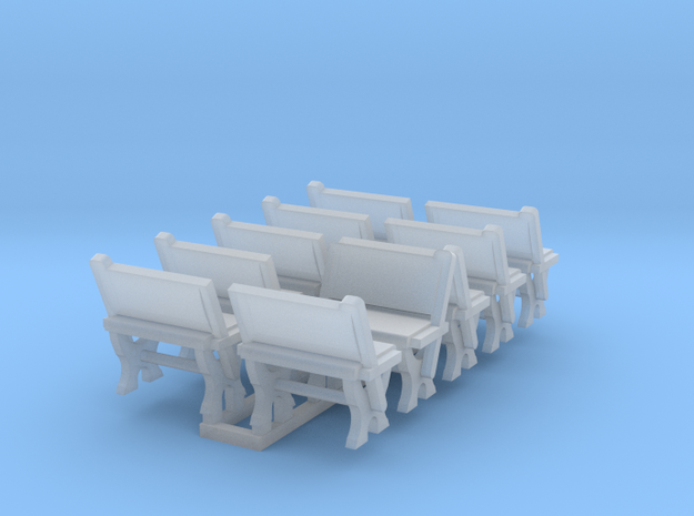 LNWR seating A, OO in Smooth Fine Detail Plastic