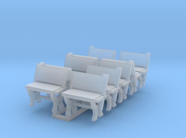 LNWR seating C, OO in Smooth Fine Detail Plastic