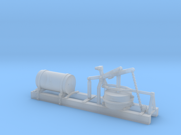 LNWR carriage vacuum-brake (chain handbrake) in Smooth Fine Detail Plastic: 1:76 - OO