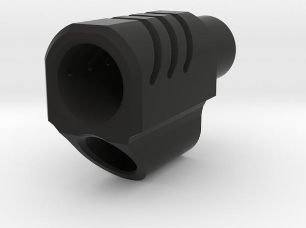 M1911 Airsoft Flashhider in Black Natural Versatile Plastic