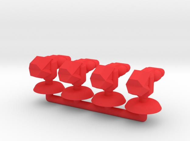 Zeta Generic Small Transport Squadron in Red Processed Versatile Plastic