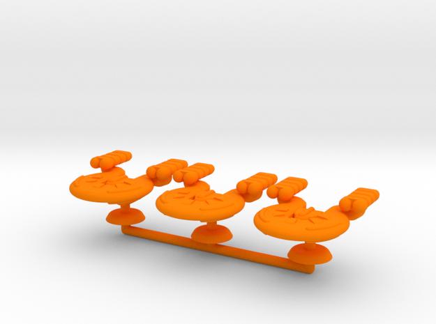 Gamma Generic Medium Warship Squadron in Orange Processed Versatile Plastic