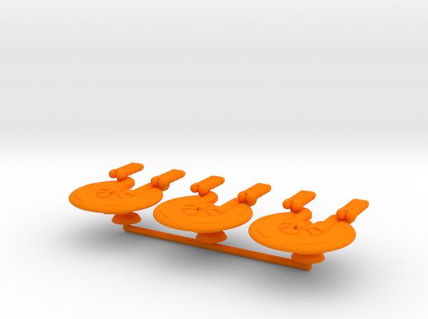 Gamma Generic Large Warship Squadron in Orange Processed Versatile Plastic