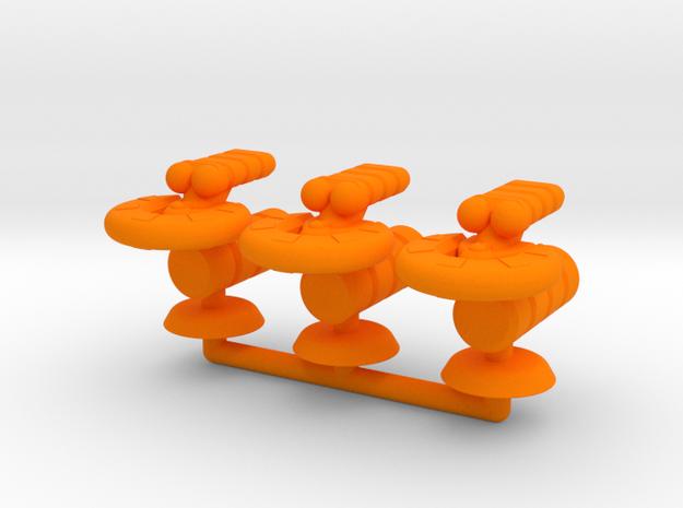 Gamma Generic Transport Squadron in Orange Processed Versatile Plastic
