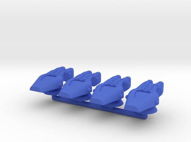 Lambda Generic Medium Warship Squadron in Blue Processed Versatile Plastic