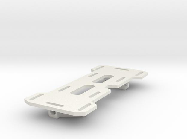HPI Venture LCG Battery tray Rev1 in White Natural Versatile Plastic