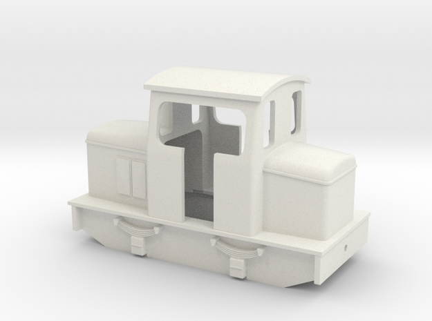 5.5 mm scale O&K style centercab diesel in White Natural Versatile Plastic