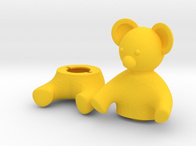 Small Teddy bear Box in Yellow Processed Versatile Plastic