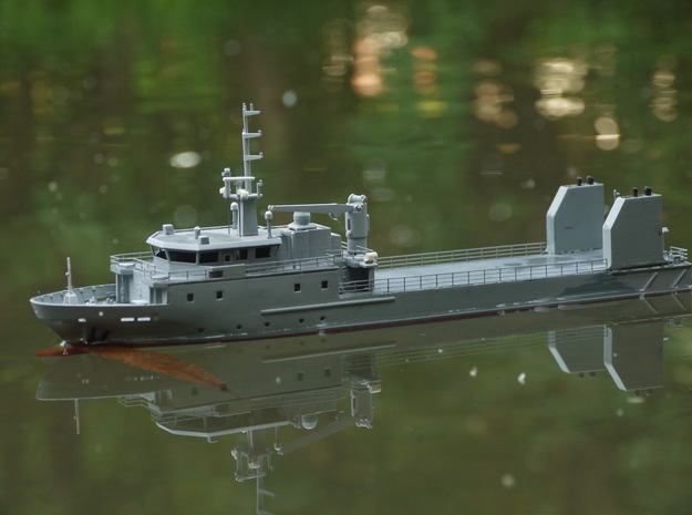 Rmah (A61), Hull (1:200) in White Natural Versatile Plastic