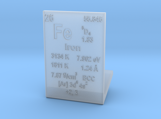 Iron Element Stand in Smooth Fine Detail Plastic