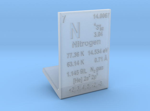 Nitrogen Element Stand in Smooth Fine Detail Plastic