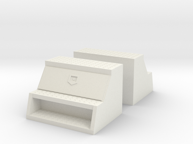 "1/32 to 1/34th 'Saddle' type 24"" toolboxes in White Natural Versatile Plastic"