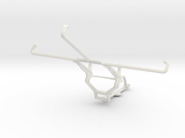 Controller mount for Steam & Samsung Galaxy Tab 4  in White Natural Versatile Plastic