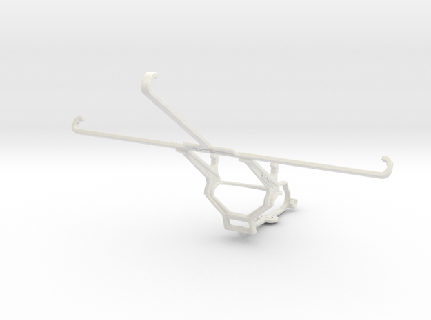Controller mount for Steam & Samsung Galaxy Tab S  in White Natural Versatile Plastic