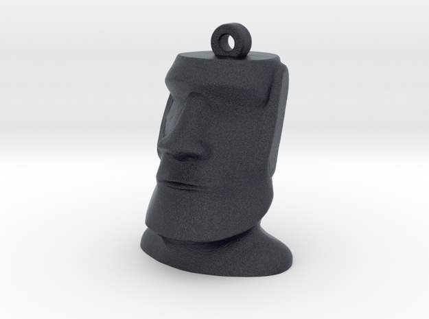 Moai Easter Island Head Earring in Black PA12