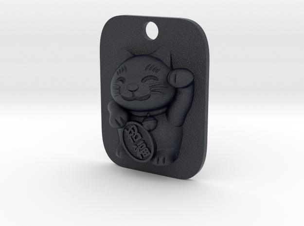 Lucky Cat Keyfob in Black PA12