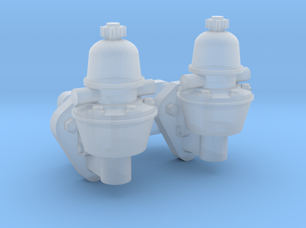 1/25 Mechanical Fuel Pump x2 in Smooth Fine Detail Plastic