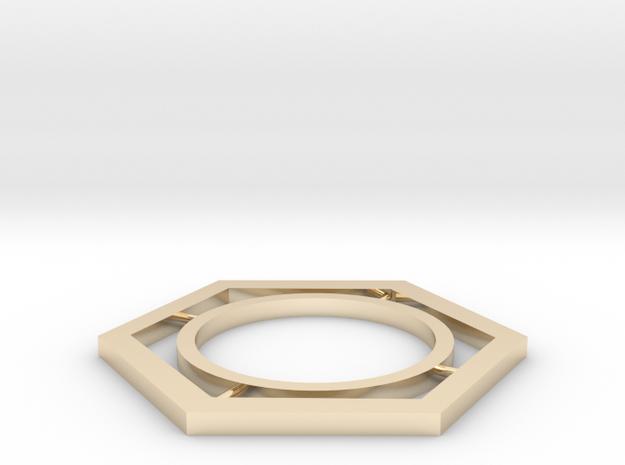 hexagon in 14K Yellow Gold: Medium