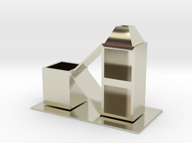 geometry in 14k White Gold: Medium