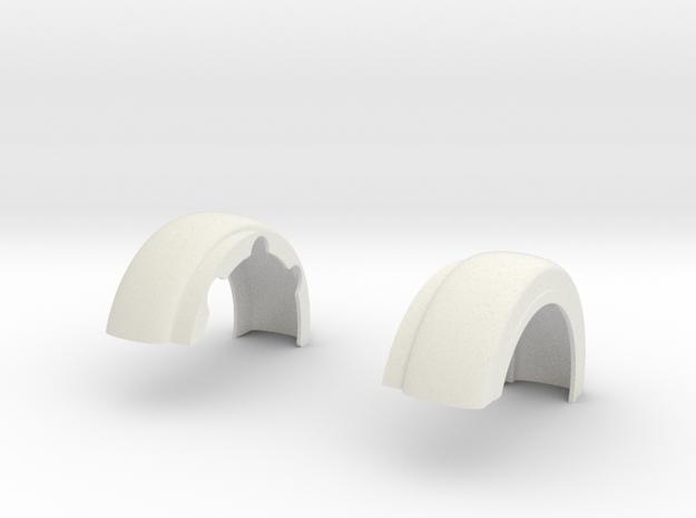 Custom-Fenders-King Hauler-cab-4 in White Natural Versatile Plastic