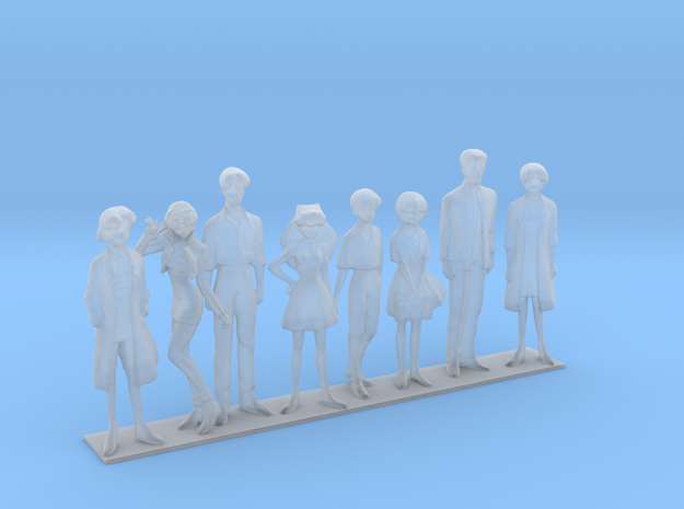 1/60 NERV Team Families and Friends in Smoothest Fine Detail Plastic