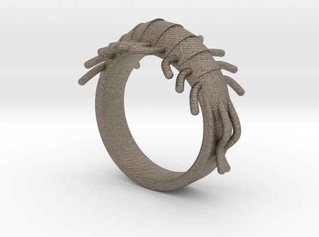 Millipede Ring 17mm in Matte Bronzed-Silver Steel