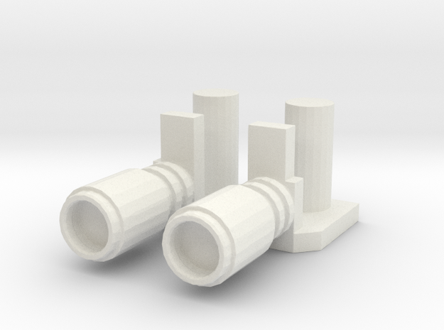 POTP Windcharger Magnets in White Natural Versatile Plastic