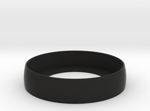 Beauty Ring / Bograt 22mm -- 24mm in Black Natural Versatile Plastic