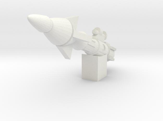 CW Mirage Shoulder Accessory in White Natural Versatile Plastic