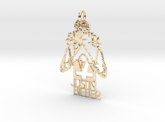 Justin Bieber Pendant - Exclusive Jewellery in 14K Yellow Gold