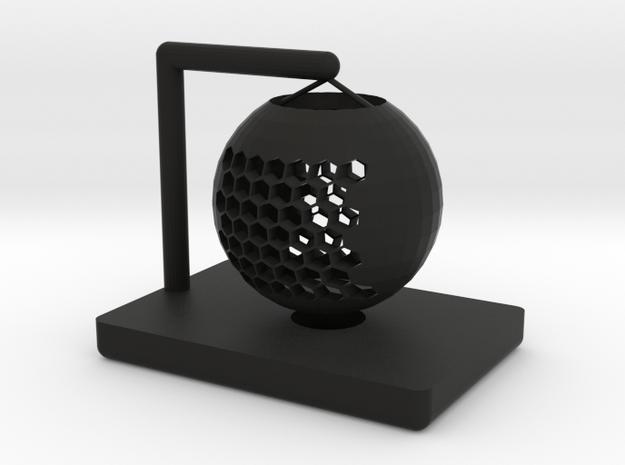 Hollow table lamp shade in Black Premium Versatile Plastic
