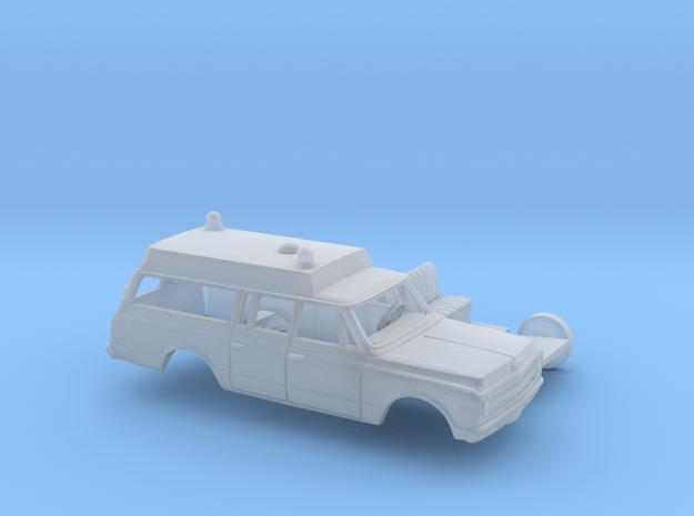 1/87 1967-70 Chevrolet Suburban Ambulance Kit in Smooth Fine Detail Plastic