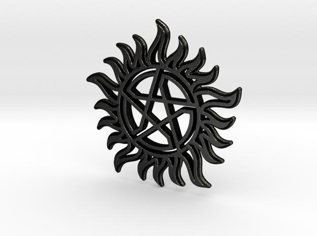 Anti-Possession Star in Matte Black Steel