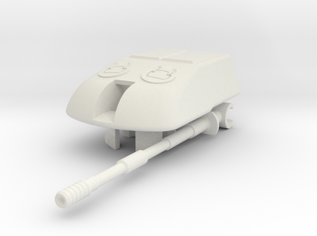 1/100 SU-10M Turret in White Natural Versatile Plastic