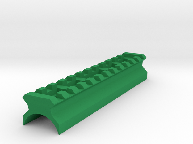 AK Top Cover Picatinny Rail (12 Slots) in Green Processed Versatile Plastic