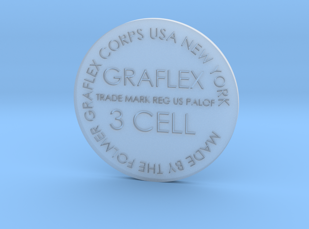 Graflex button 34mm screen accurate in Smooth Fine Detail Plastic